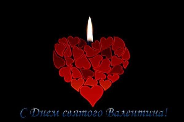свеча и сердце из роз