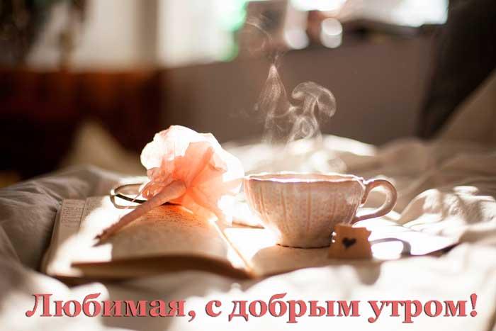 чай и цветок для любимой