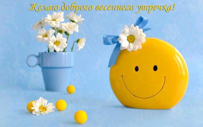 цветок и улыбающийся смайлик
