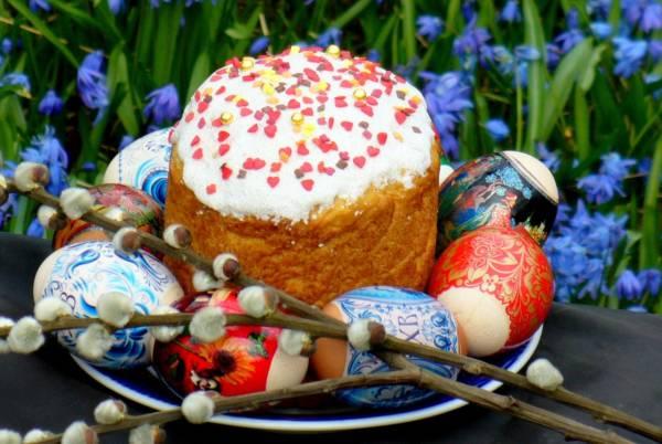 кулич и яйца