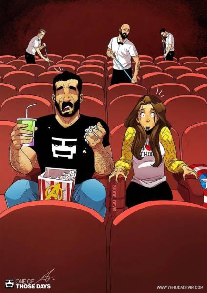 Великолепные иллюстрации о жизни со своей женой (19 штук)