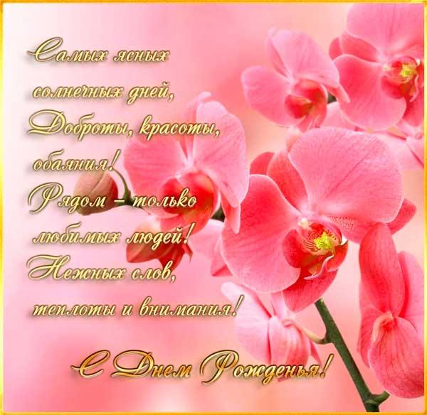Поздравление про орхидеи