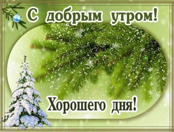 пожелание доброго зимнего утра и хорошего дня
